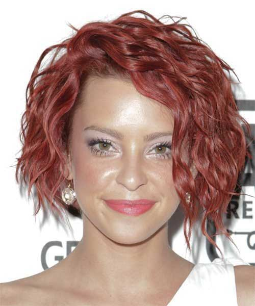 Short Hairstyles for Thick Curly Hair-19