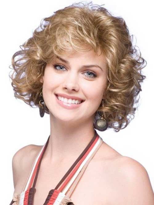 Short Hairstyles for Thick Curly Hair-20