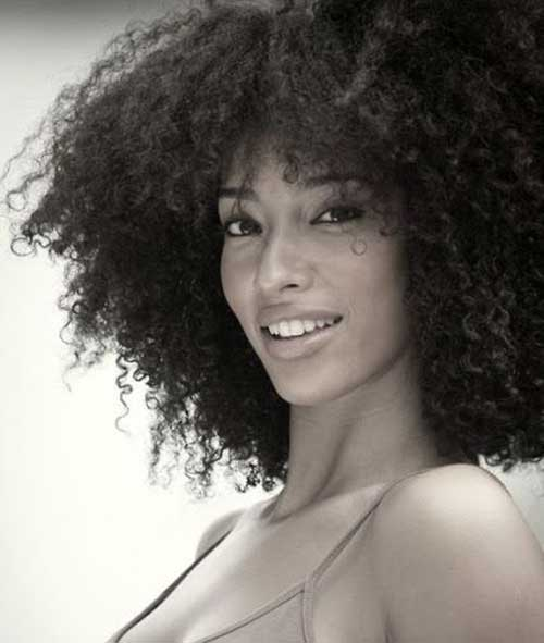 Short Hairstyles for Thick Curly Hair-21
