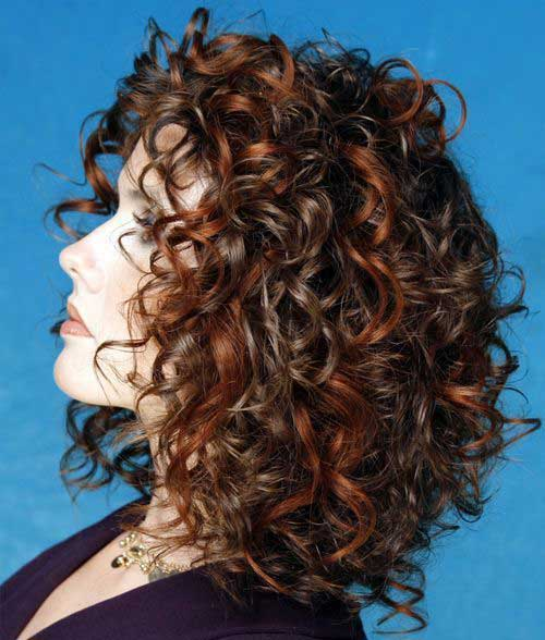 Short Hairstyles for Thick Curly Hair-22