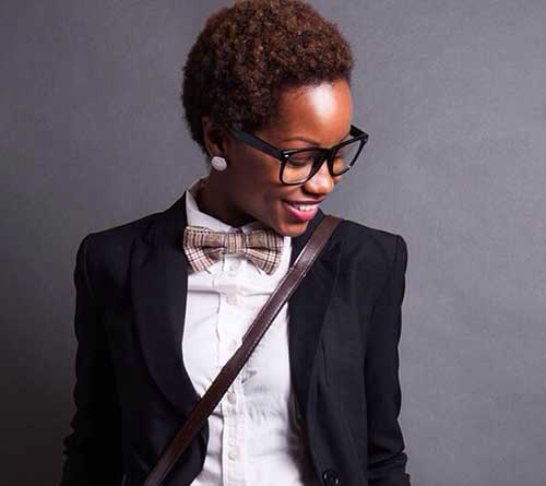 Short Natural Hairstyles for Black Women-27