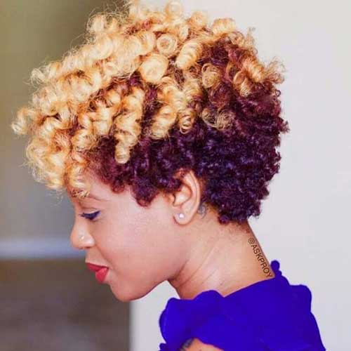 Hairstyles for Short Natural Hair-28