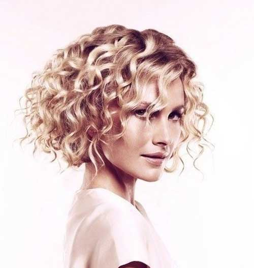 Short Hairstyles for Thick Curly Hair-9