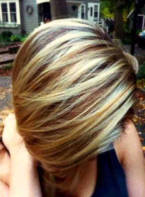 Highlighted Short Hair Colors
