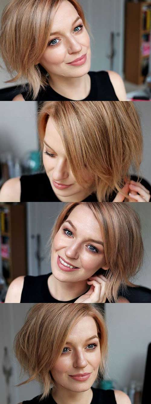 Short Haircuts for Round Face-14