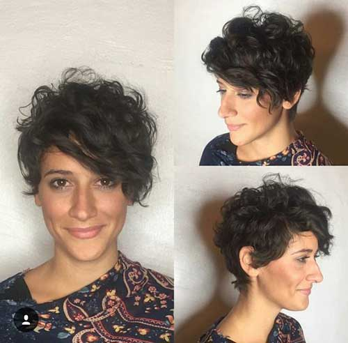 Curly Cute Short Hairstyles
