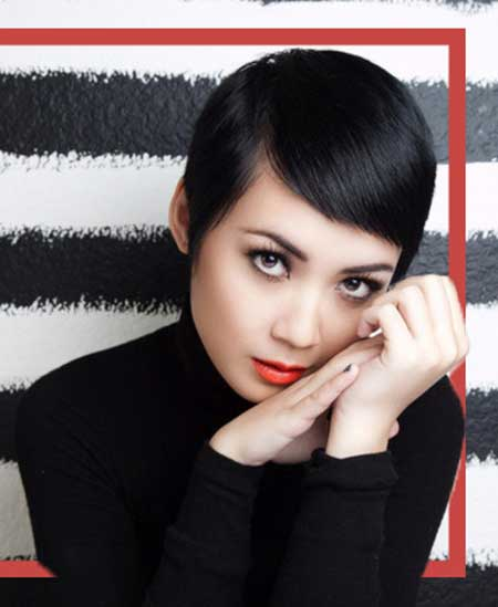 Really Short Dark Straight Pixie Hairstyles