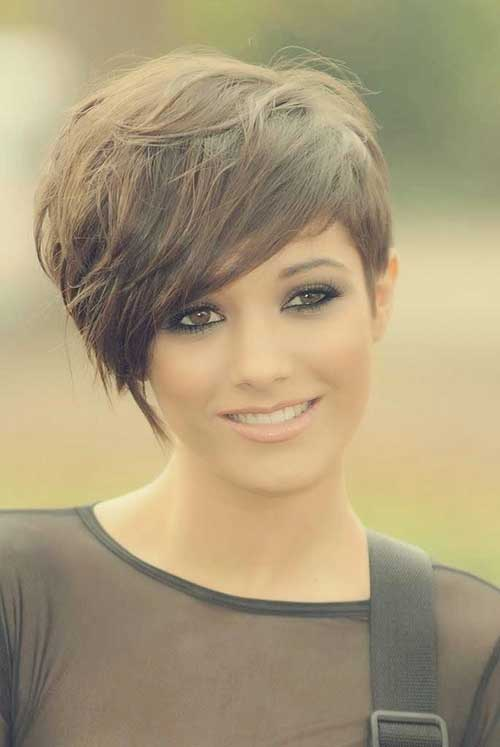 Messy Brown Pixie Hairstyles