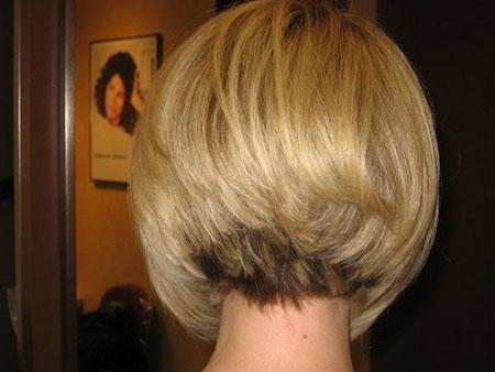 Back View of Graduated Bob Hair