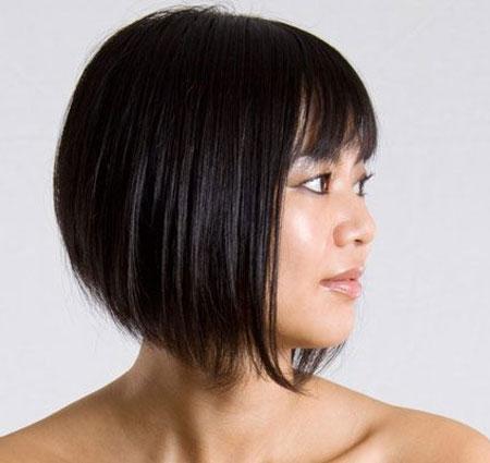 Straight Black Short Hair