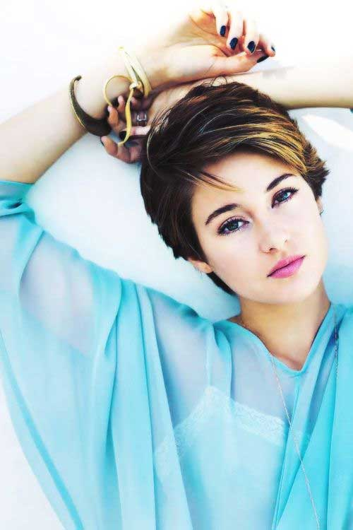 Shailene Woodley Short Pixie Hairstyles