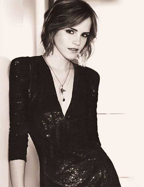 Emma Watson Sleek Short Bob Hairstyles