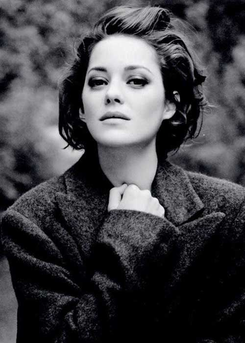 Marion Cotillard Short Bob Haircuts with Backcombed Hair