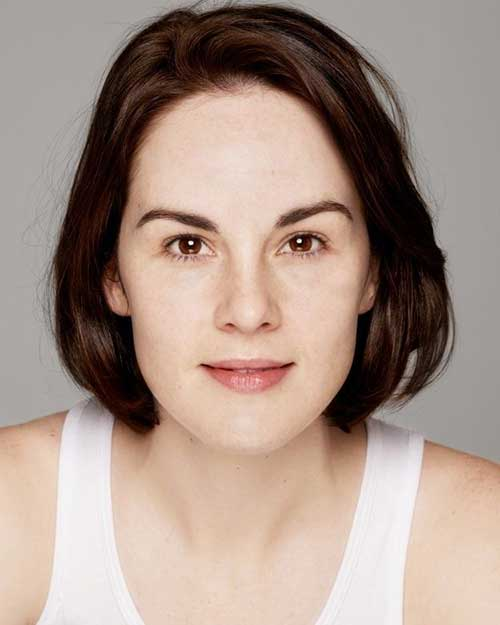 Michelle Dockery Simple Short Bob Hairstyles
