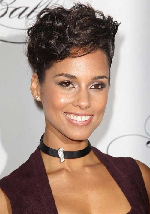 Alicia Keys Short Pixie Haircuts
