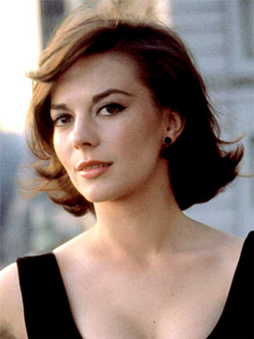 Natalie Wood Iconic Short Brown Hairstyles