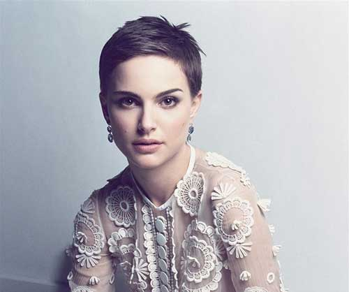 Natalie Portman Very Short and Sassy Hairstyles