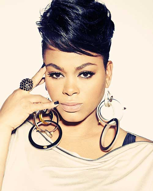 Jill Scott Short Updo Pixie Haircuts