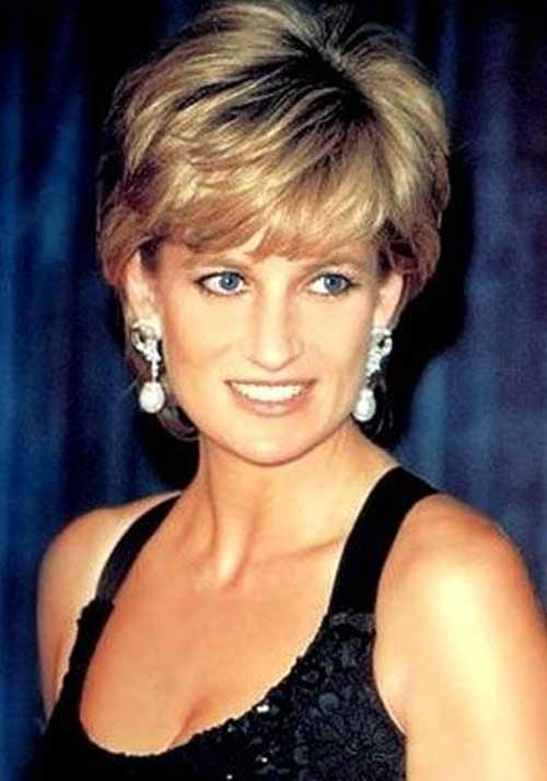 Princess Diana Short Blonde Hairstyles with Bangs