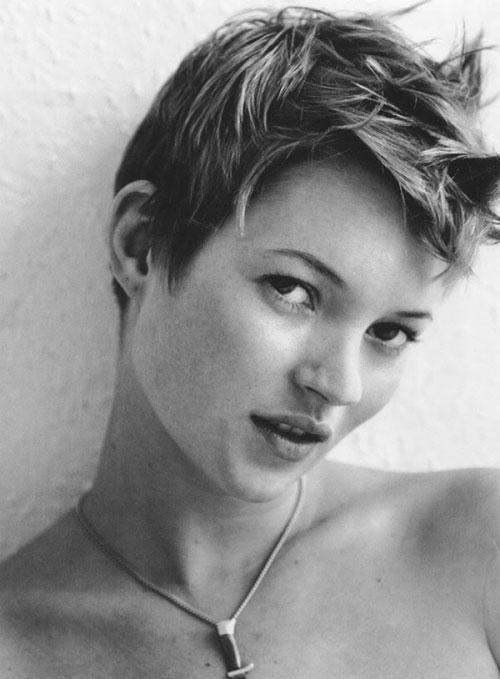 Kate Moss Short Pixie Haircut