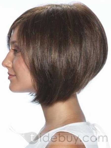 Dark Thick Voluminous Bob with Short Layers