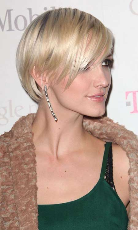 Blonde Simple Thin Layered Bob Hairstyles
