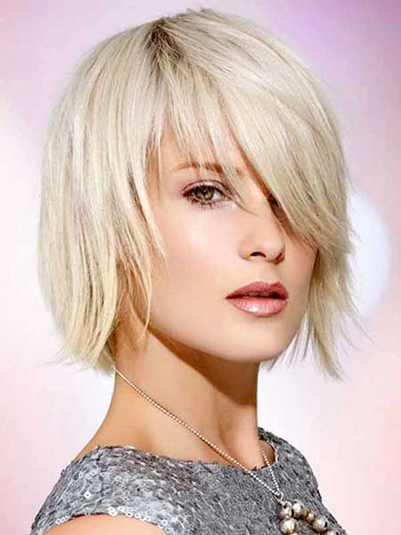 Stylish Platinum Filled Layered Bob Haircuts
