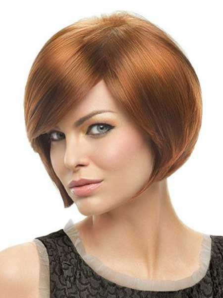 Red Neat Beautiful Easy Layered Bob