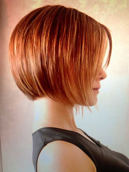 Awesome Straight Line Ginger Beautiful Bob