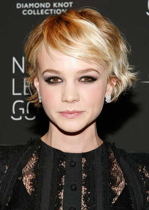 Carey Mulligan Wavy Haircuts for Fine Hair