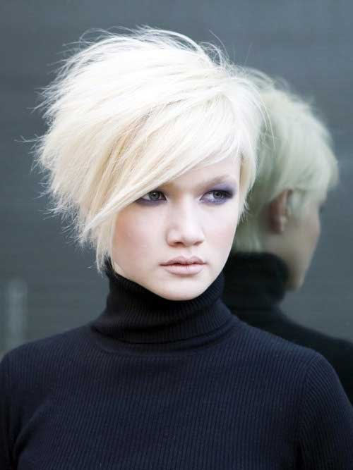 Short Stacked Hairstyles with Side Apart