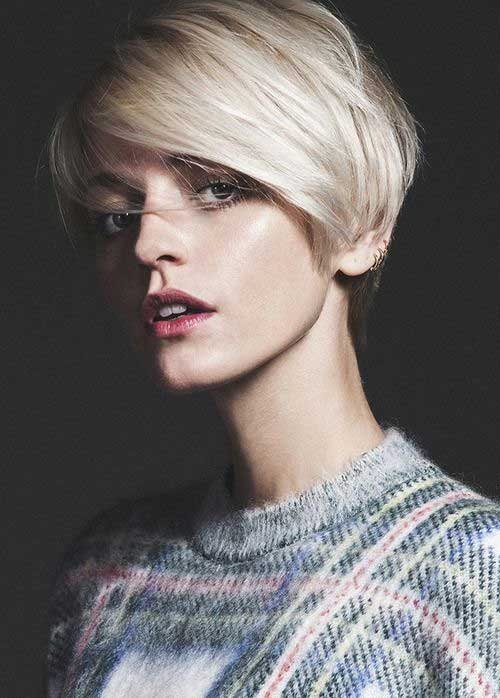 Charming Blonde Pixie Lower Haircuts