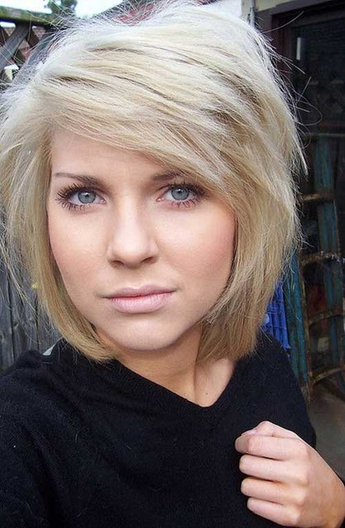 Side Parted Wavy Bob Hairstyles
