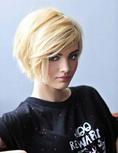 Short Blonde Shaved Pixie Hairstyles
