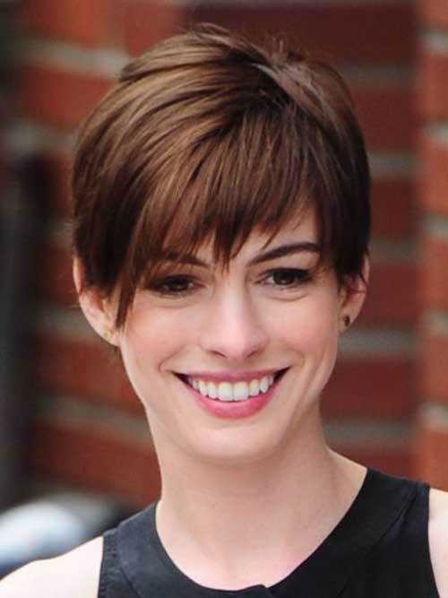Anne Hathaway Short Hairstyle 2014