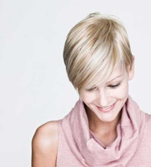 Light Blonde Pixie Haircut