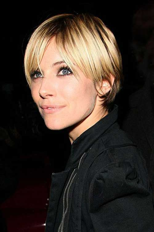 Sienna Miller Blonde Straight Hairstyles