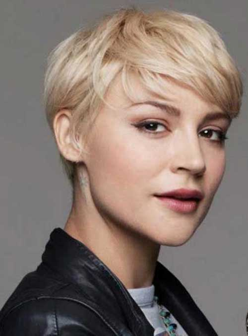 Pixie Haircuts in Light Blonde Color