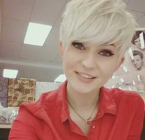 Cute Blondie Long Pixie
