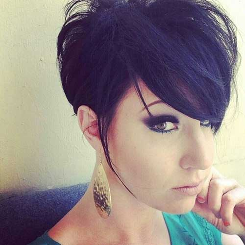Cute Black Long Pixie Cuts