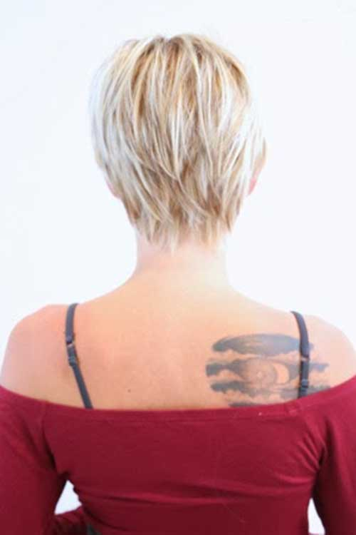 Edgy Pixie Hair Back View