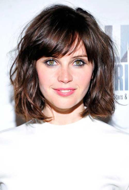 Felicity Jones Bob Hairstyle