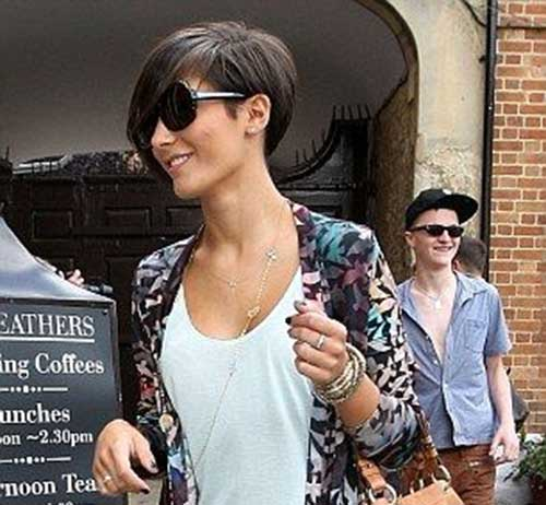 Frankie Sandford Haircut Side View