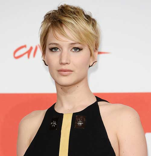 Jennifer Lawrence Pixie Cut Styles