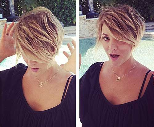 Kaley Cuoco Pixie Hairstyle