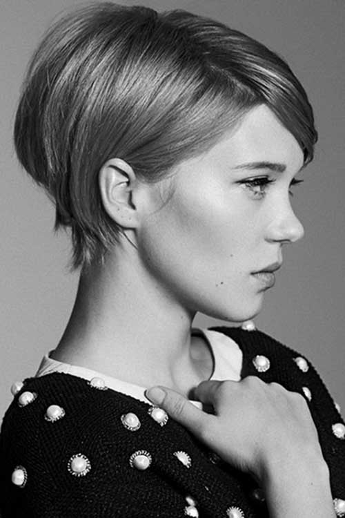 Lea Seydoux Pixie Short Hairstyle