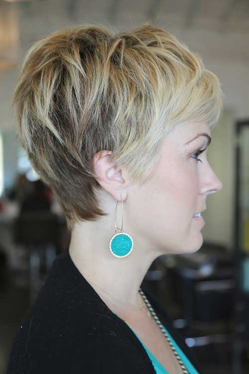 Cute Pixie Hairstyle Side View
