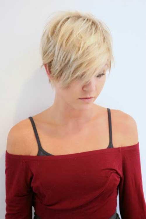 Short Blonde Cute Pixie Hair