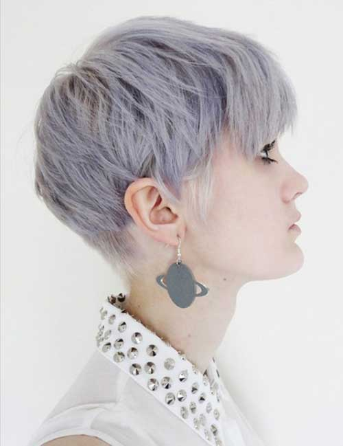 Short Pixie Grey Hairstyles