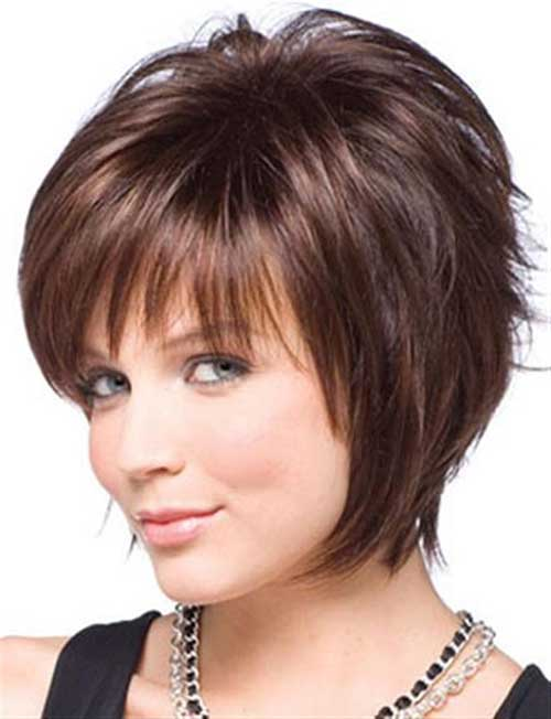 Short Hairstyles for Cute Round Faces